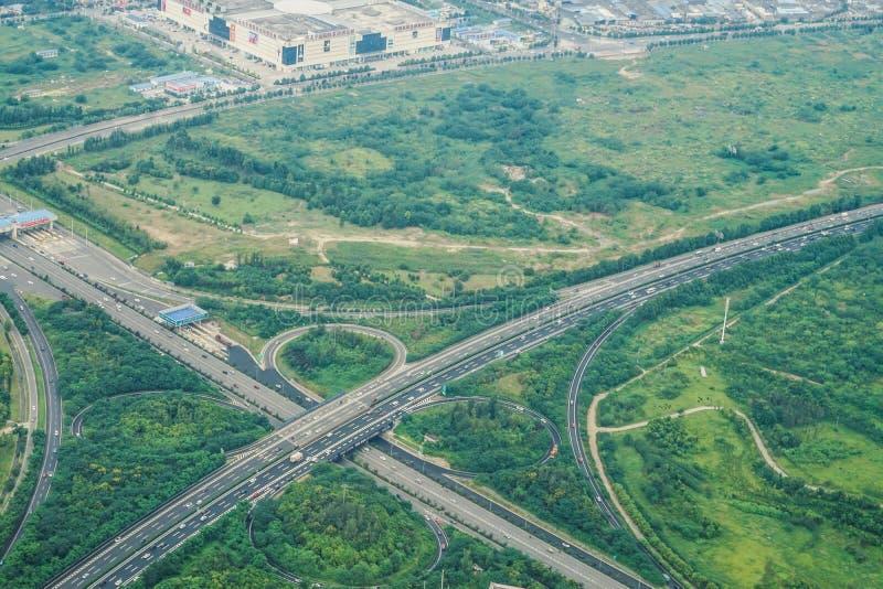Trójwymiarowy skrzyżowanie autostrada Chengdu, Chiny zdjęcie royalty free