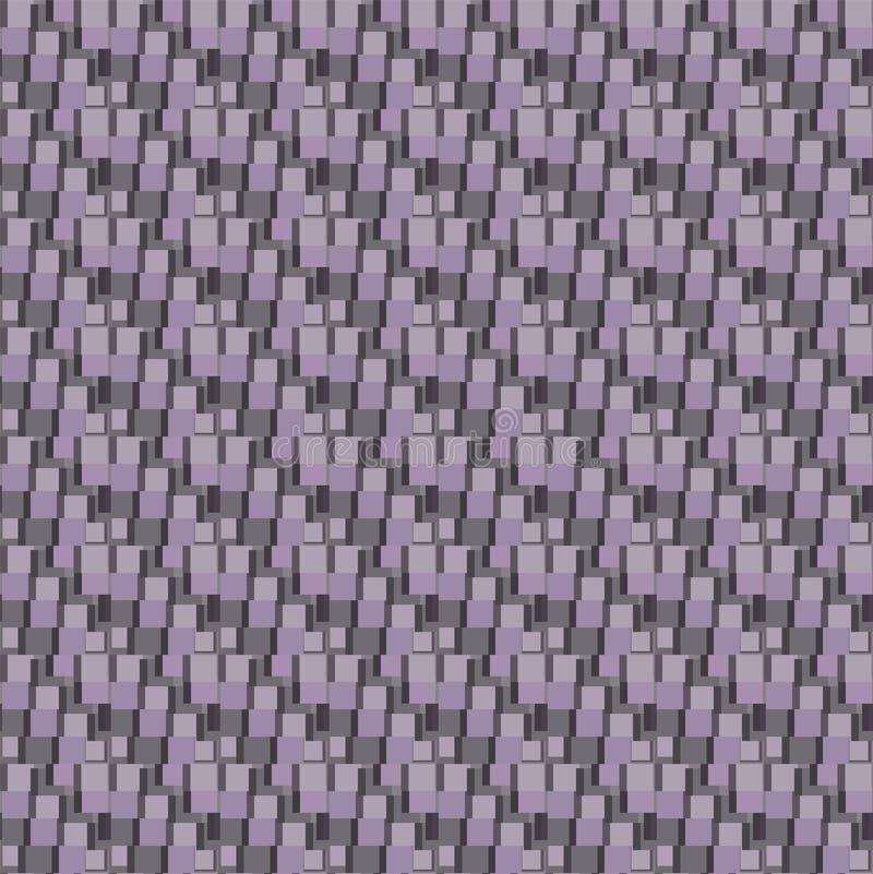 trójwymiarowy tło z kwadratami royalty ilustracja