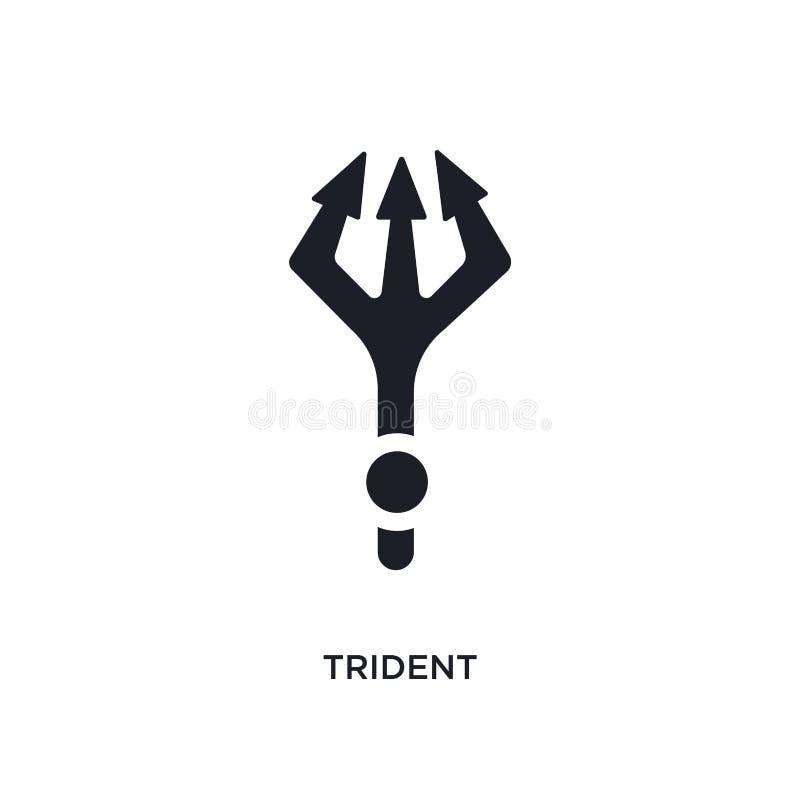 trójząb odosobniona ikona prosta element ilustracja od indu pojęcia ikon trójzębu logo znaka symbolu editable projekt na bielu royalty ilustracja
