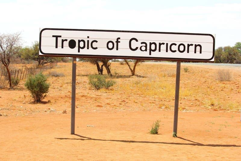 Trópico de la muestra del Capricornio, Nambia imágenes de archivo libres de regalías