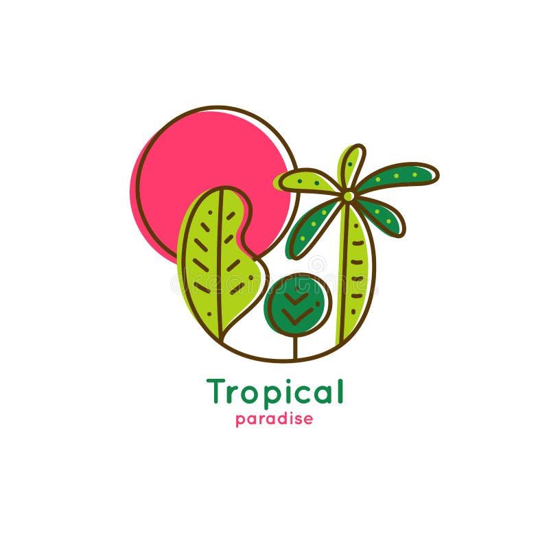 Trópicos do logotipo ilustração royalty free