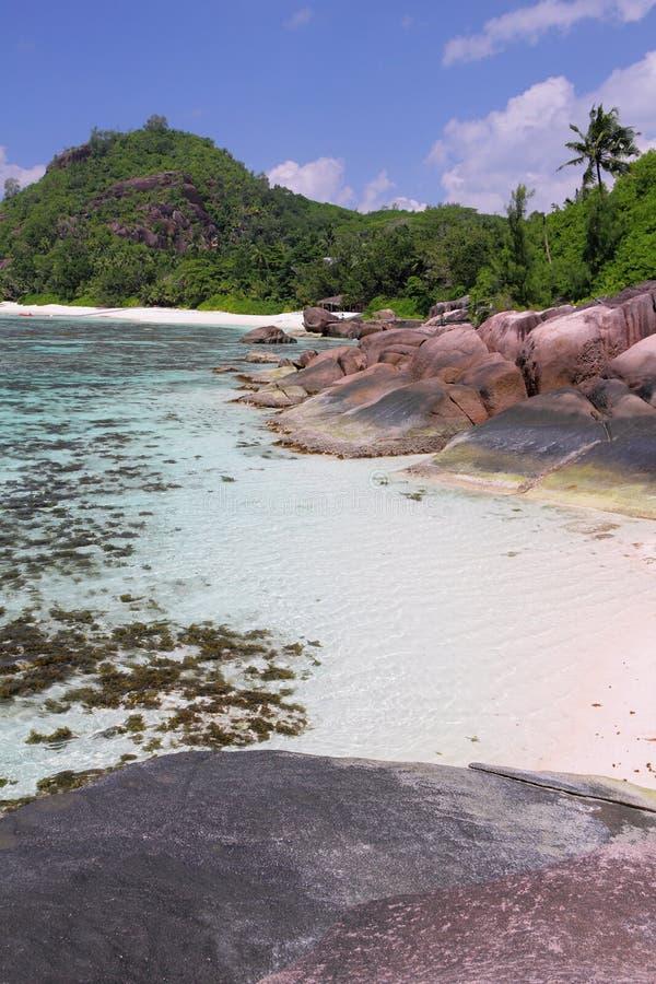 Trópicos, golfo Baie Lazare Mahe, Seychelles foto de stock