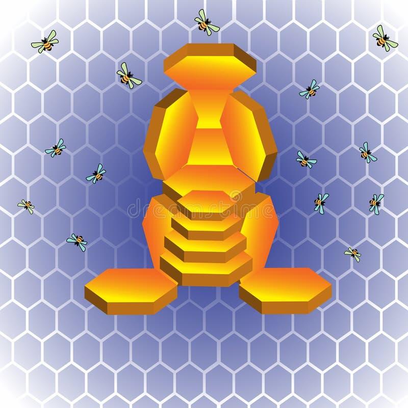 Trône d'abeille illustration libre de droits