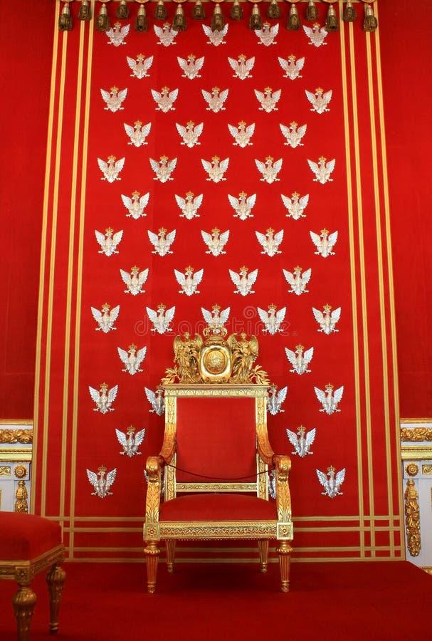 Trône d'or royal photos libres de droits