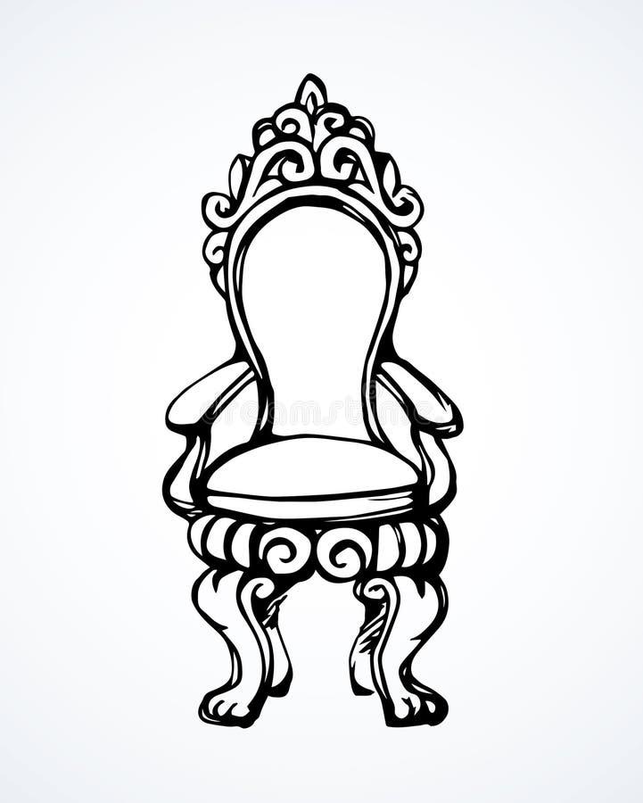 trône Retrait de vecteur illustration de vecteur