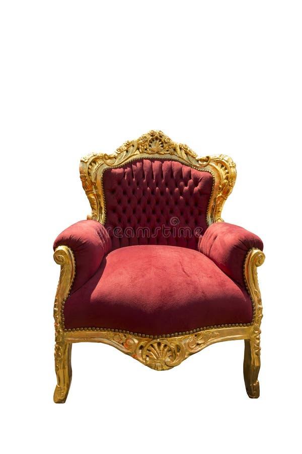 Trône royal avec la décoration d'or images stock