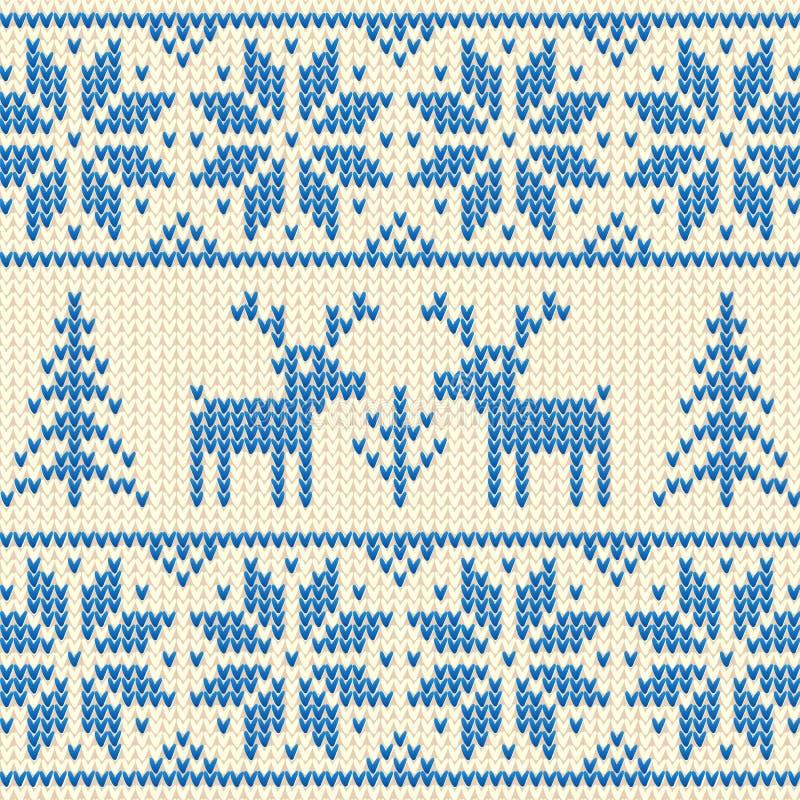 Tröja med hjortar royaltyfri illustrationer