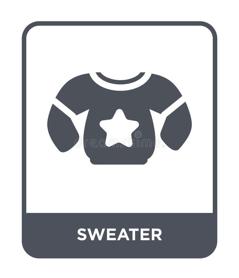 tröjasymbol i moderiktig designstil tröjasymbol som isoleras på vit bakgrund enkelt och modernt plant symbol för tröjavektorsymbo royaltyfri illustrationer