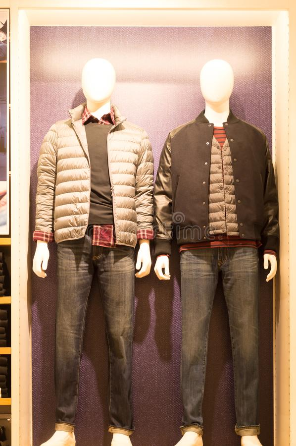 Tröjor och byxa för vintersäsong arkivfoton
