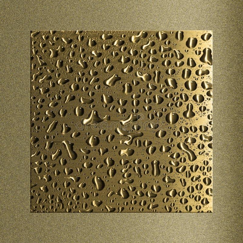 Tröpfchen auf Metall lizenzfreie stockfotografie
