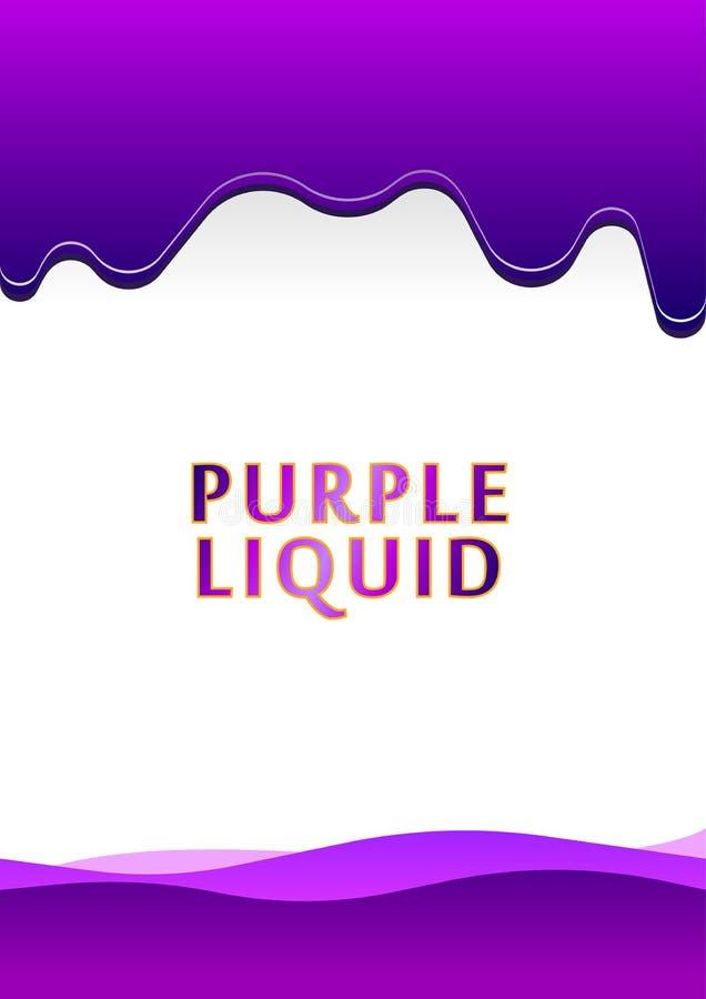 Tröpfchen-purpurrote Flüssigkeit auf Papier stock abbildung