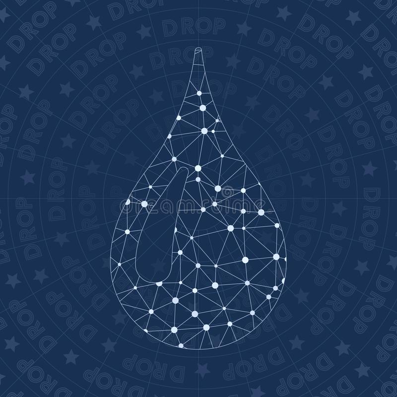 Tröpfchennetzsymbol lizenzfreie abbildung