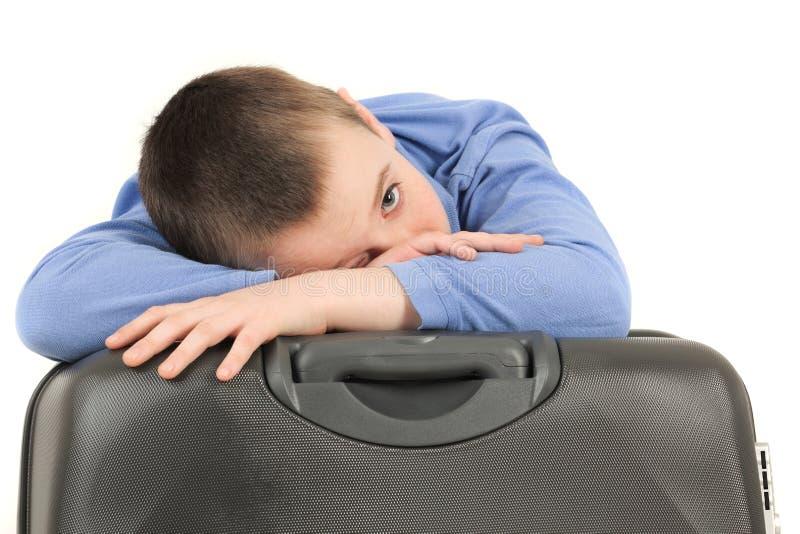 trött barn för pojke arkivbild