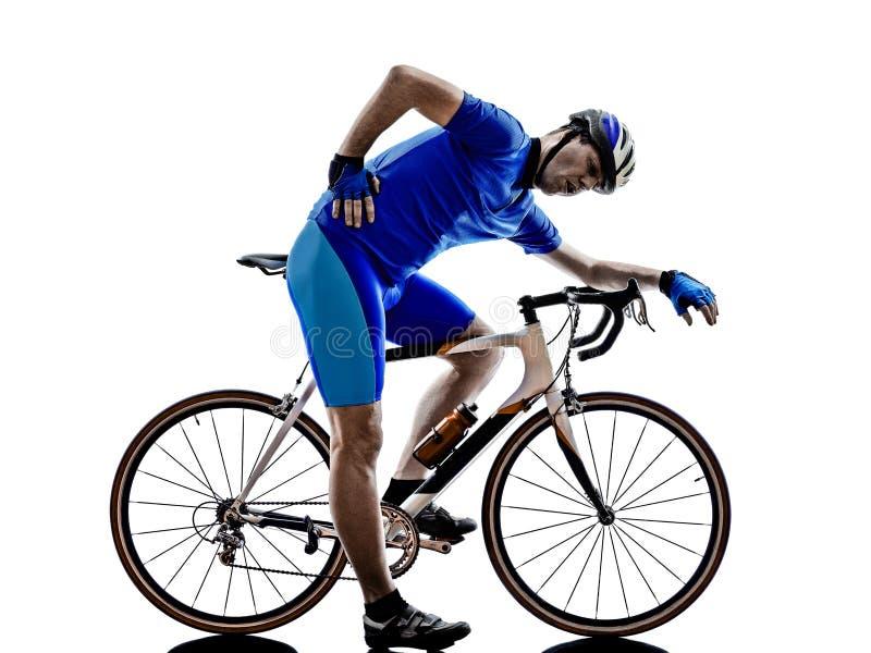 Trött kontur för cyklist fotografering för bildbyråer