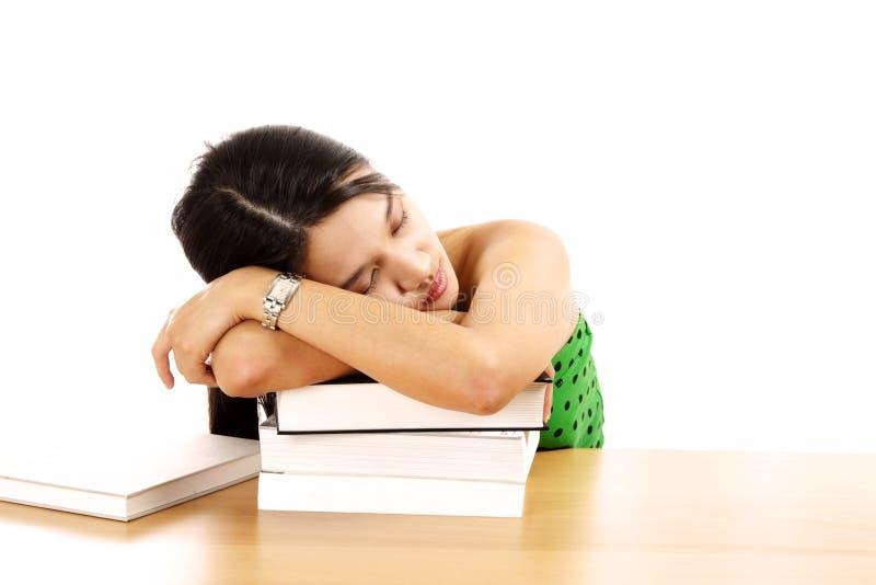 trött kvinna royaltyfri fotografi