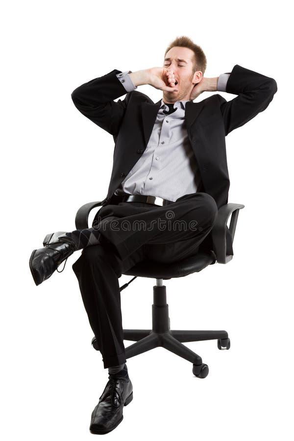tröttad affärsman arkivbilder