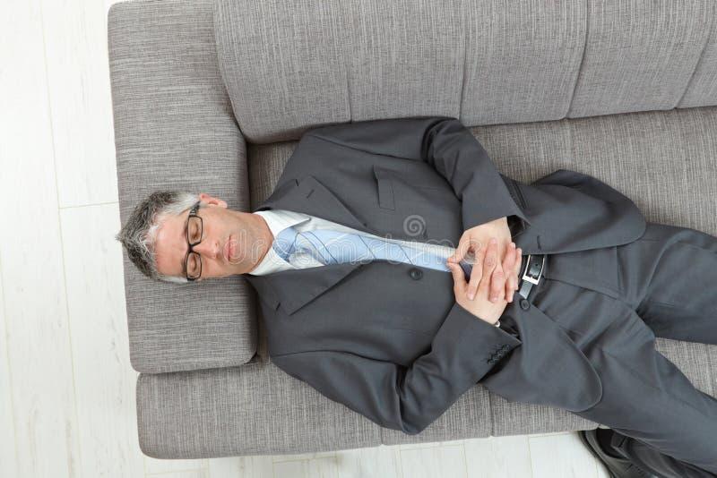 tröttad affärsman royaltyfri fotografi