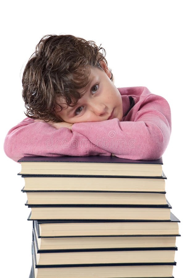 tröttad barndeltagare royaltyfri fotografi