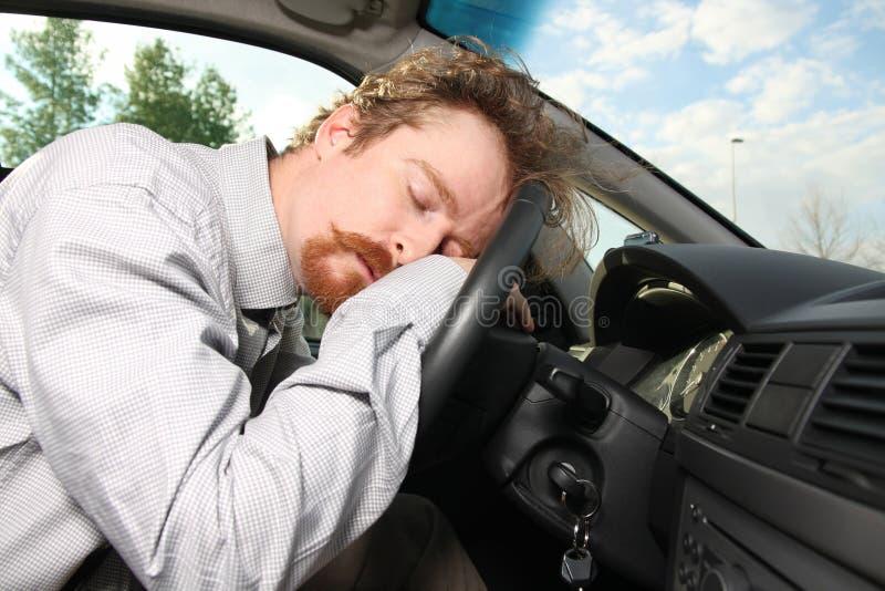 tröttad chaufför arkivbild