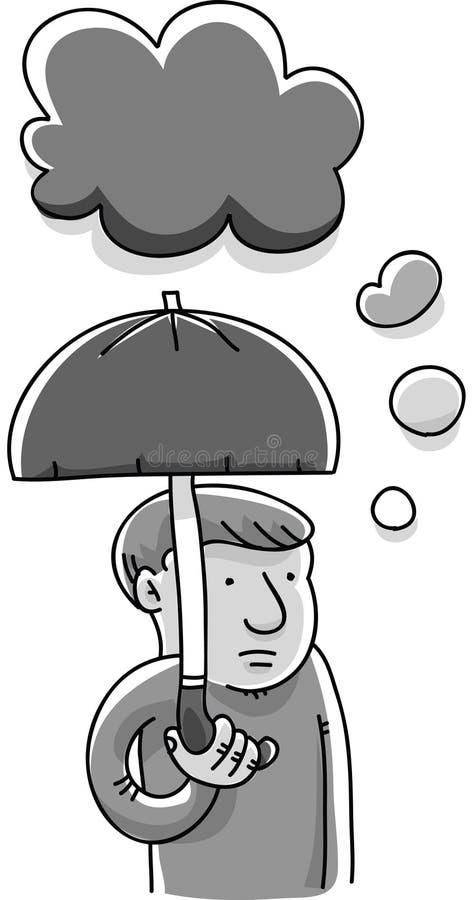 Trübsinn-Wolke lizenzfreie abbildung
