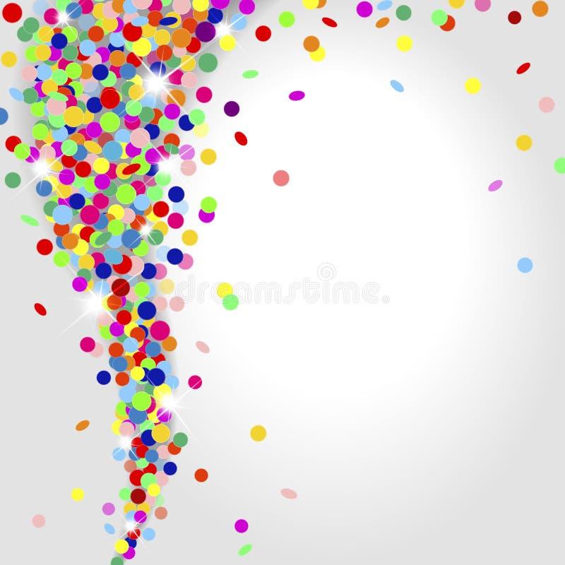 Trąba powietrzna confetti ilustracja wektor