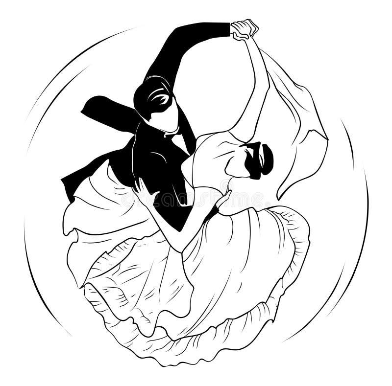 Trąba powietrzna walc ilustracji