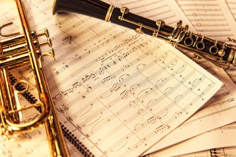 Wiatrowa muzyka obraz stock