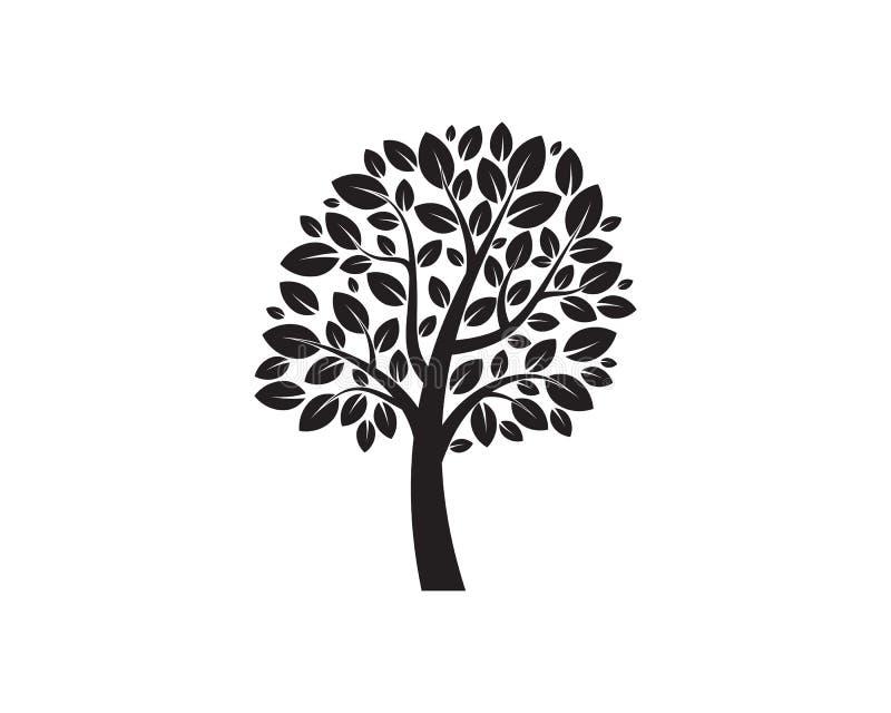 Tr?dbegrepp av ett stiliserat tr?d med bokstaven vektor illustrationer