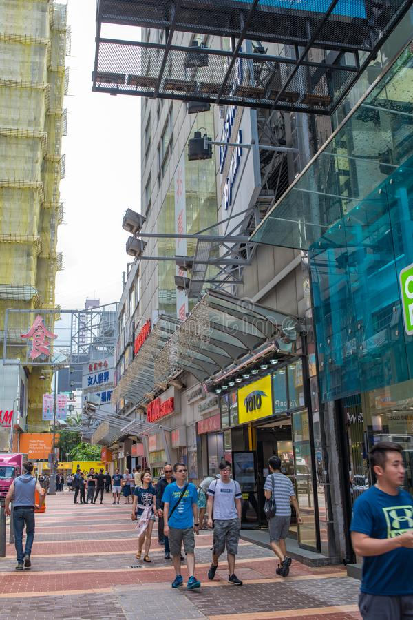 Tr?fego e vida urbana em Hong Kong imagens de stock