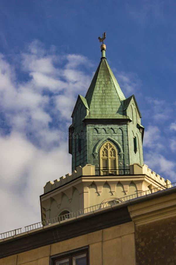 Tr?jcy wierza w Lublin, Polska zdjęcie stock