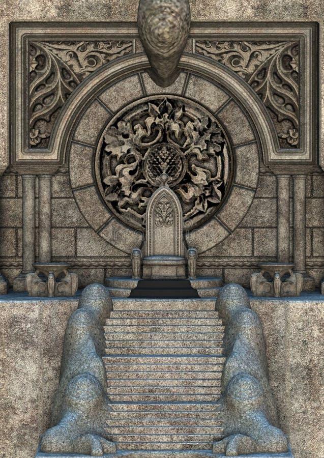 trône illustration libre de droits