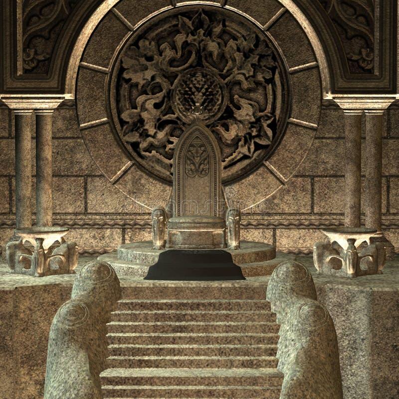 trône illustration stock