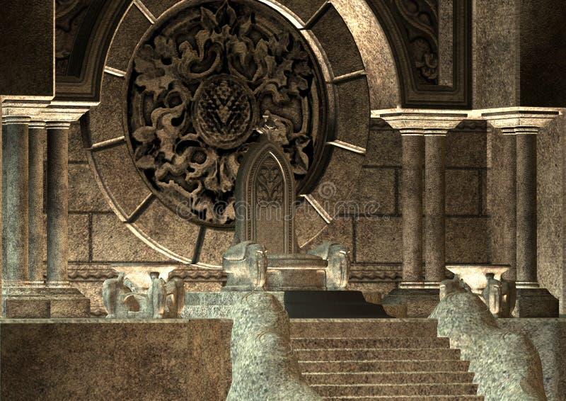trône illustration de vecteur