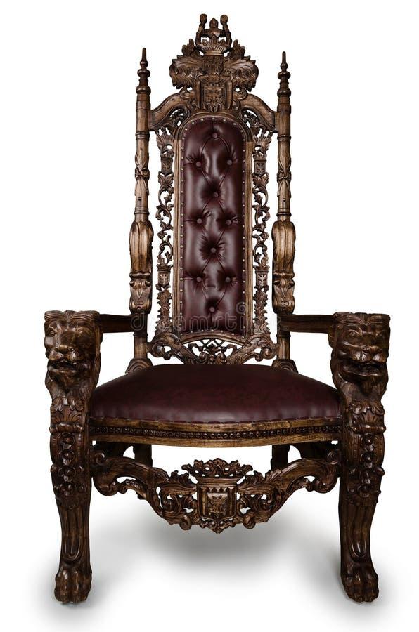 trône images stock