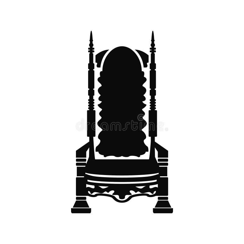 Trône d'icône illustration stock