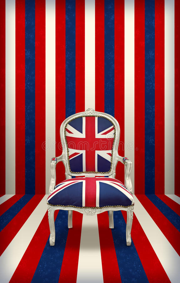 Trône du Royaume-Uni photos stock