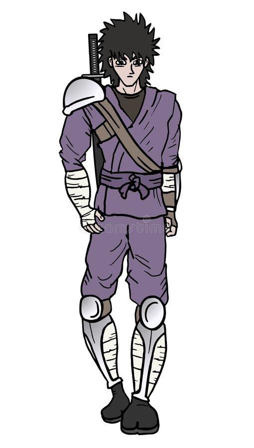 Tração de passeio do samurai ilustração stock