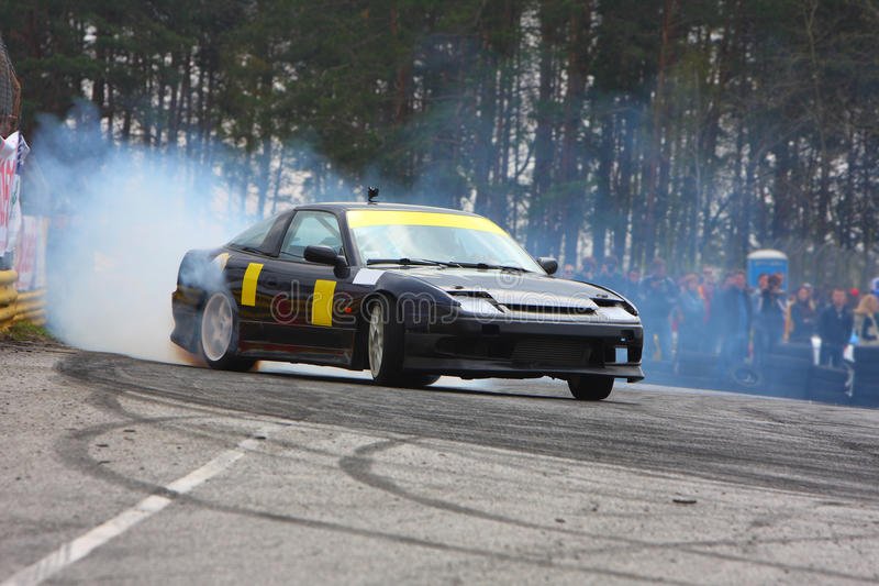 Tração de Racecar fotografia de stock royalty free