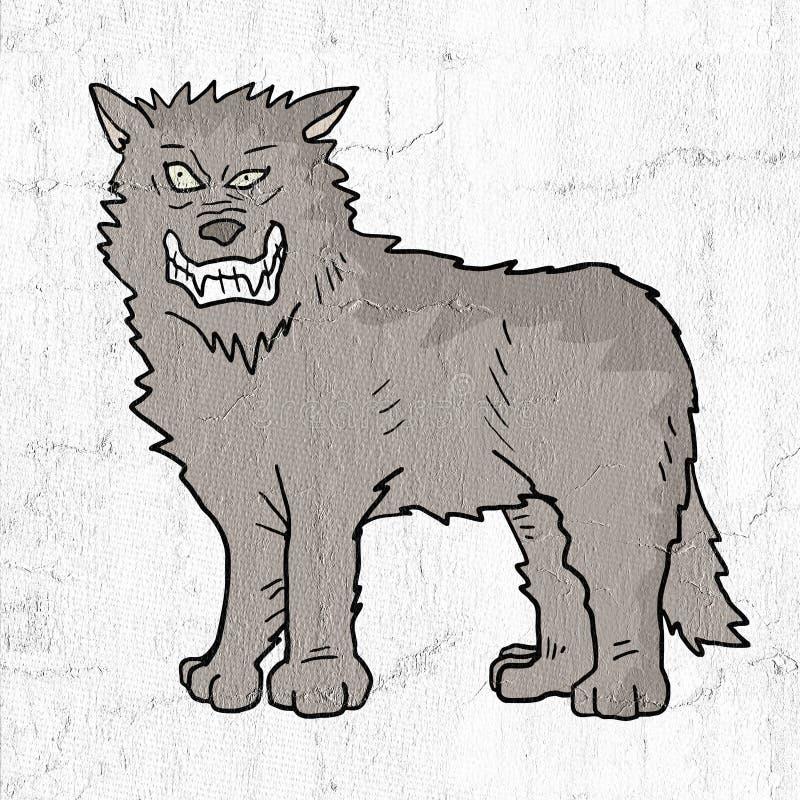 Tração do lobo ilustração do vetor