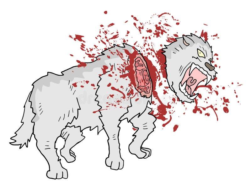 Tração do lobo do assassinato de Gore ilustração stock