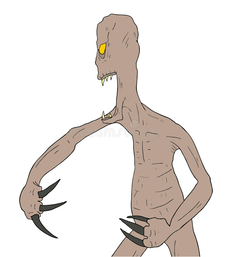 Download Tração do monstro ilustração do vetor. Ilustração de ataque - 80101456