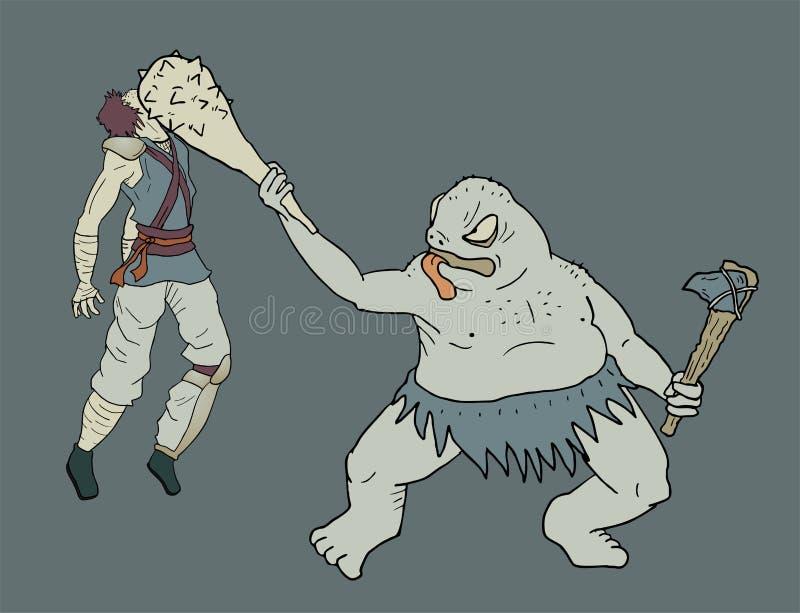 Download Tração do monstro ilustração do vetor. Ilustração de mutant - 80102338