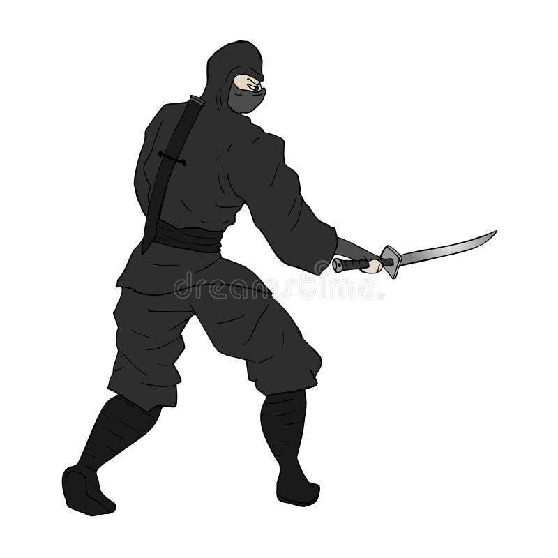Tração do ninja do perigo ilustração stock