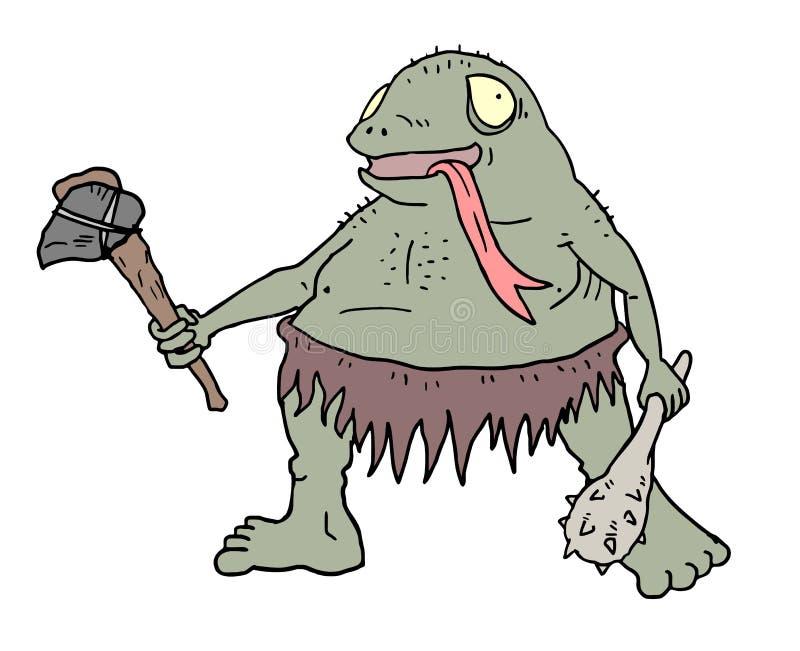 Tração feia do ogre ilustração stock