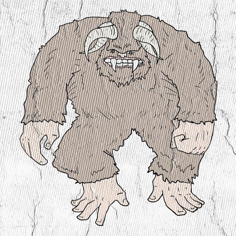 Tração grande do monstro do pé ilustração do vetor