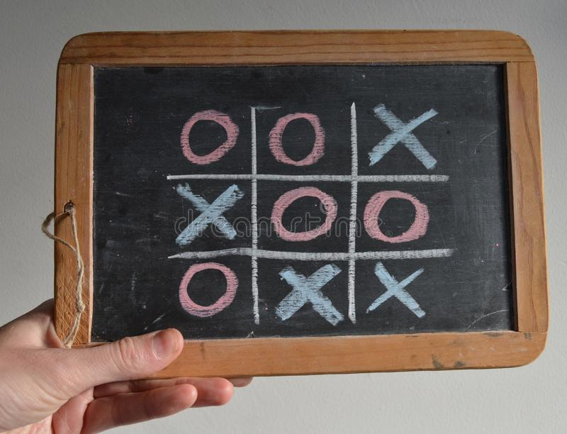 Tração: nenhum vencedor, contagem igual, jogo sobre! imagem de stock