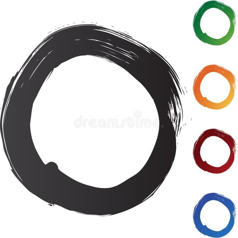 Traçages de cercle illustration stock