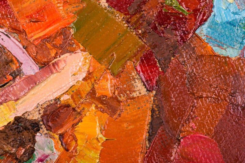 Traçages de peinture à l'huile sur la toile illustration stock