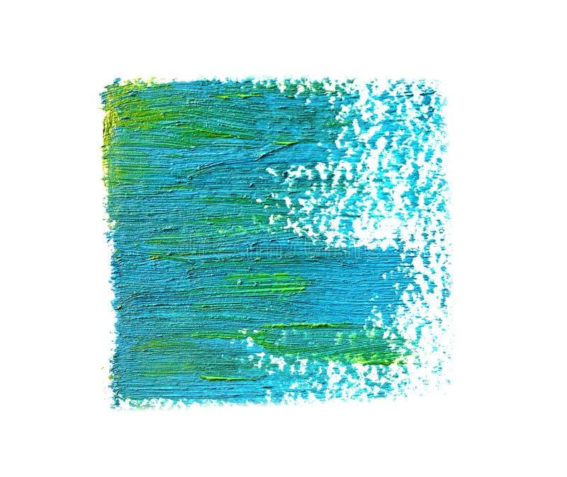 Traçages huileux bleus de peinture, d'isolement illustration stock
