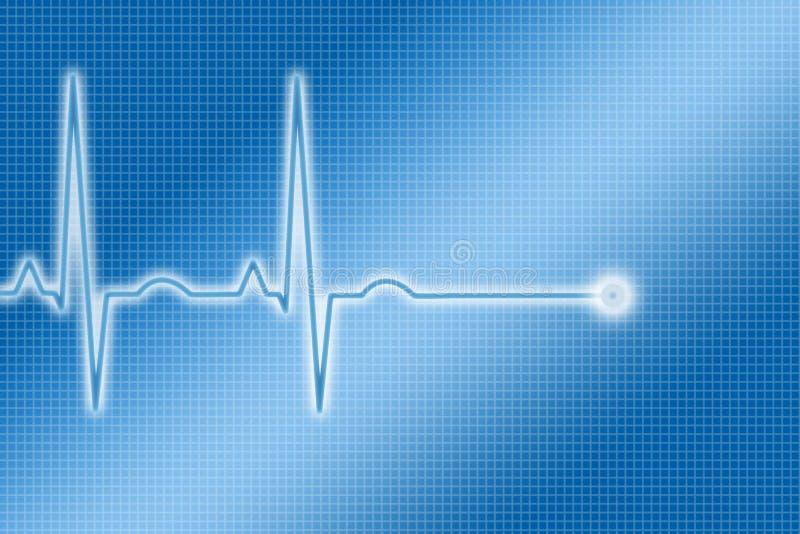 Traço azul de ECG ilustração stock